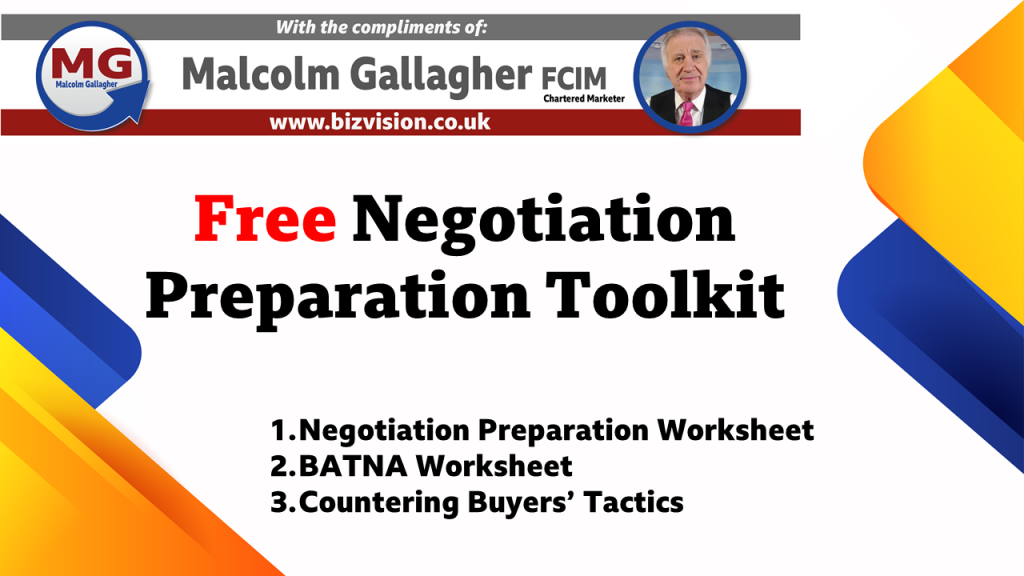 free negotiation preparation toolkit