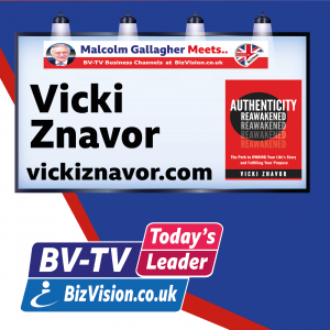 As you recover then reawaken your authenticity says author Vicki Znavor on BV-TV Show