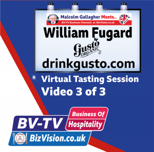 Will Fugard of drinkgusto viodeo 3 of 3 virtual tasting session on BV-TV