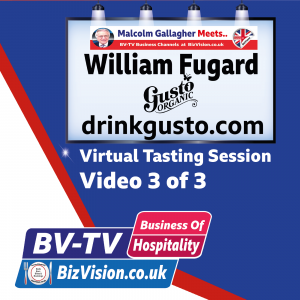 Learning meal pairing with virtual tasting in No 3 of 3 with Will Fugard of DrinkGusto.com