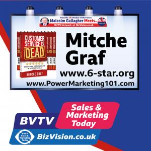 Aim for 6 star customer service says author Mitche Graf on BVTV