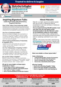 Malcolm Gallagher virtual speaker info