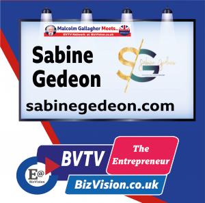 Sabine Gedeon on BVTV at BizVision.co.uk