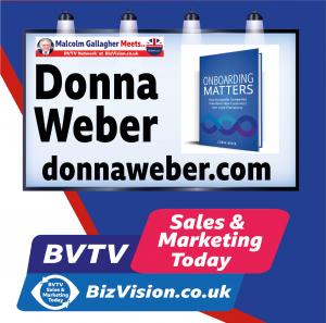 Donna Weber on BVTV at Bizvision.co.uk